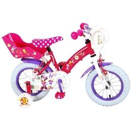 Disney Mimmis Rosettbutik Barncykel 12 tum - Stödhjul, dubbla handbromsar, docksits