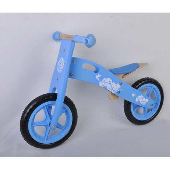 """Yipeeh - Wooden Balance Bike Blue 12"""""""