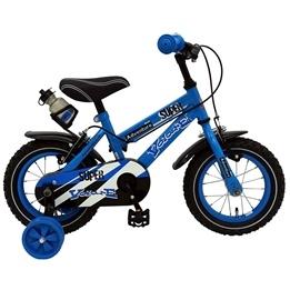 """Yipeeh - Super Blue 12"""" - Stödhjul Med Dubbla Handbromsar - Blå"""
