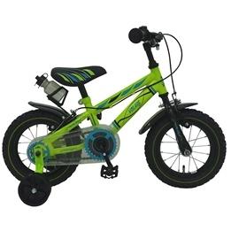 "Yipeeh - Electric Green 12"" - Stödhjul Med Dubbla Handbromsar - Grön"
