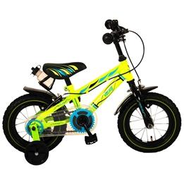 Yipeeh - Electric Green 12 tum - Stödhjul Med Dubbla Handbromsar - Grön