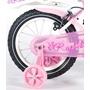 """Yipeeh - Rose 14"""" - Rosa - Stödhjul Med Dubbla Handbromsar"""