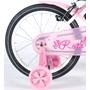 """Yipeeh - Rose 16"""" - Rosa - Stödhjul Med Dubbla Handbromsar"""