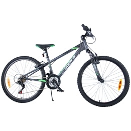 "Volare - Viper MTB 24"" Tourney TZ 18 Speed - Mat Black"
