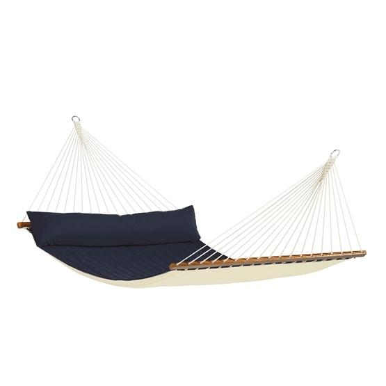 La Siesta - Hängmatta - Dubbel - Träkarm - Alabama Navy Blue