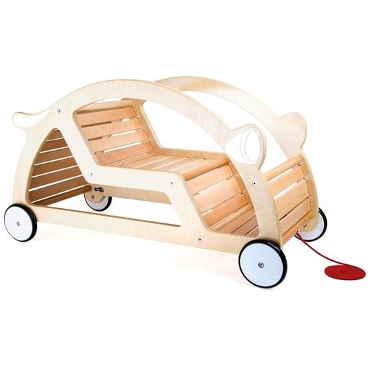 Small Foot - Pull-Cart And Seesaw Nature - Färdigmonterad