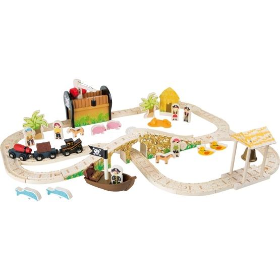 Legler - Tågbana - Pirate Island Railway Set