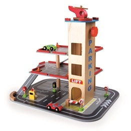 Small Foot - Parkeringsgarage - Wooden Parking Garage