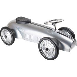 Small Foot - Sparkbil - Silver Rally-Style Push-Along Car