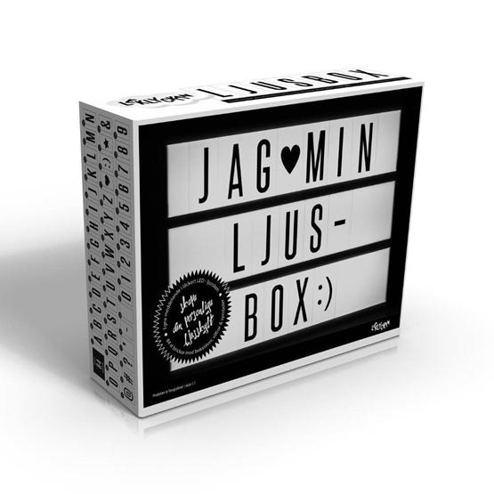 Leklyckan - Ljusbox A4 I Vitt Med LED Belysning