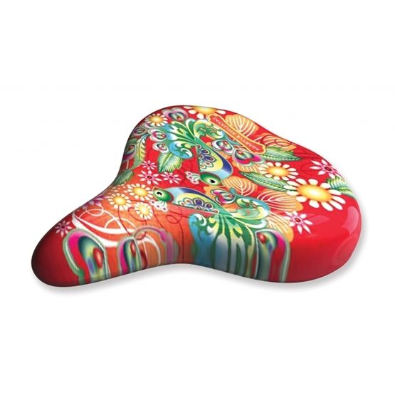 Liix - Sadelskydd - Saddle Cover Catalina Estrada Collage Red