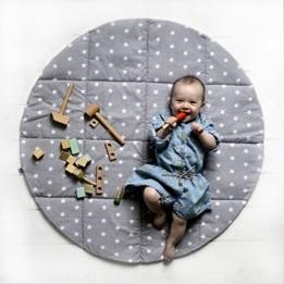 Little Nomad - Matta Till Lektält - Grå/Vit