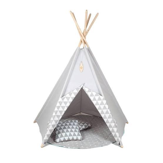 Little Nomad - Lektält - TeePee - Harlequin Grå