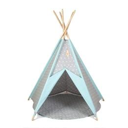 Little Nomad - Lektält - TeePee - Grön/grå