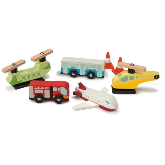 Le Toy Van - Bil & Flyg Flygplats Set