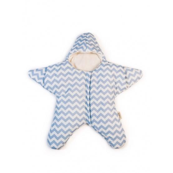 Baby Bites - Sovsäck Stjärna 0-3 mån - Blå/vit