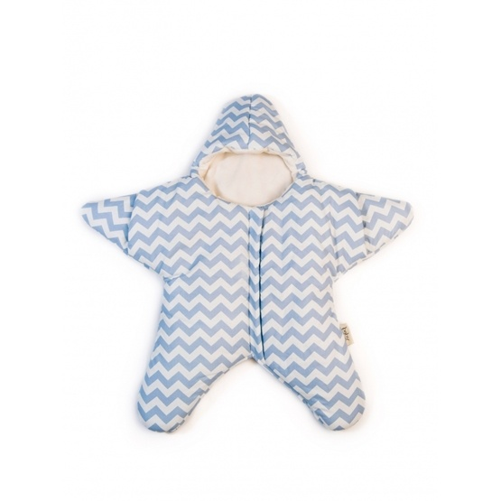 Baby Bites - Sovsäck Stjärna 3-6 mån - Blå/vit