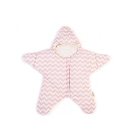 Baby Bites - Sovsäck Stjärna 3-6 mån - Rosa/vit