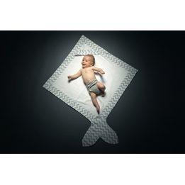 Baby Bites - Handduk - Blå/vit