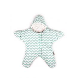 Baby Bites - Sovsäck Stjärna 3-6 mån - Grön/vit