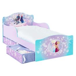 Disney - Frozen/Frost Barnsäng Junior Med Förvaring - Lila/Turkos