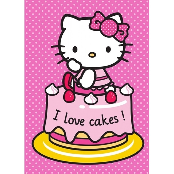"Disney - Hello Kitty ""I Love Cakes"" Barnmatta"