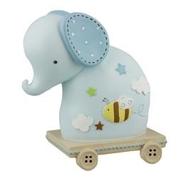 MRFK - Sparbössa Elefant På Vagn Blå