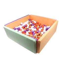 Bollhav Lekmatta - 2 in 1 - Ekoläder - Inklusive bollar - Färgmix 2
