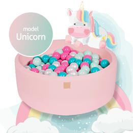 Meow Baby - Bollhav med 250 Bollar - Unicorn - 30 Cm