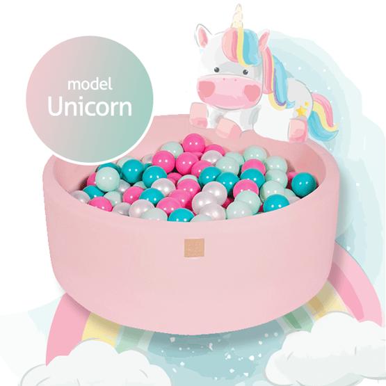 Meow Baby - Bollhav med 250 Bollar - Unicorn - 40 Cm