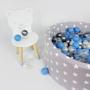 Meow Baby Bollhav med 200 bollar - Ljusgrå Stjärnor - 30 Cm
