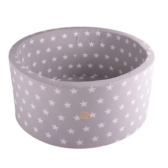 Meow Baby Bollhav med 200 bollar - Ljusgrå Stjärnor - 40 Cm
