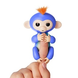 Fingerling / Baby Monkey - Fingerapa - Blå
