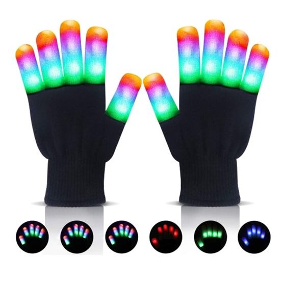 Fingervantar med LED-ljus (Large)