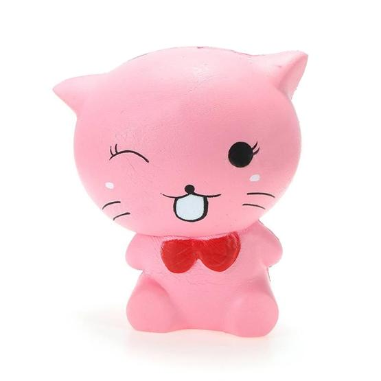Soft 'n Slo - Squishy Toy - Pink Cat Nr 16