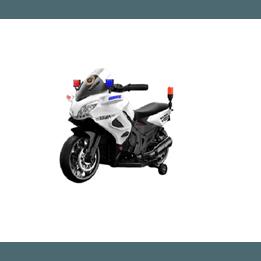 Elbil - Polismotorcykel - Vit