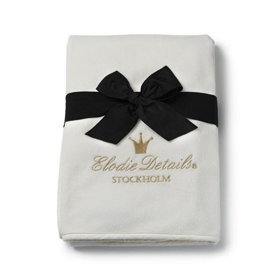 Elodie Details - Pärlsammetsfilt - Vanilla Whi.