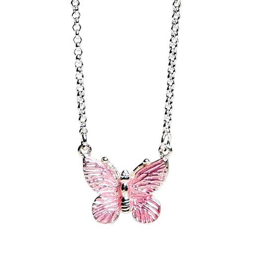 Kalas - Halsband Rosa Fjäril