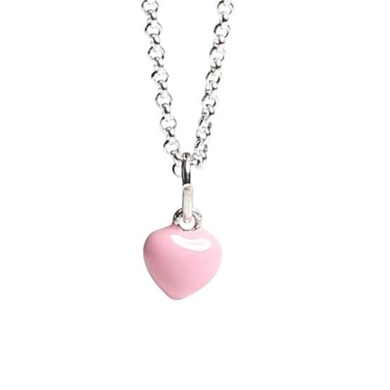 Kalas - Halsband Rosa Hjärta Litet