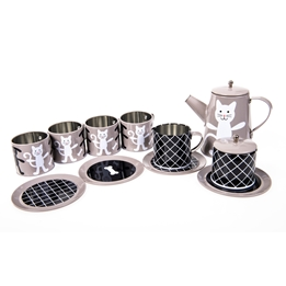 Pellianni - Barnservis - Tin Tea Set Grey