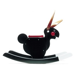 Playsam - Rocking Rabbit Black
