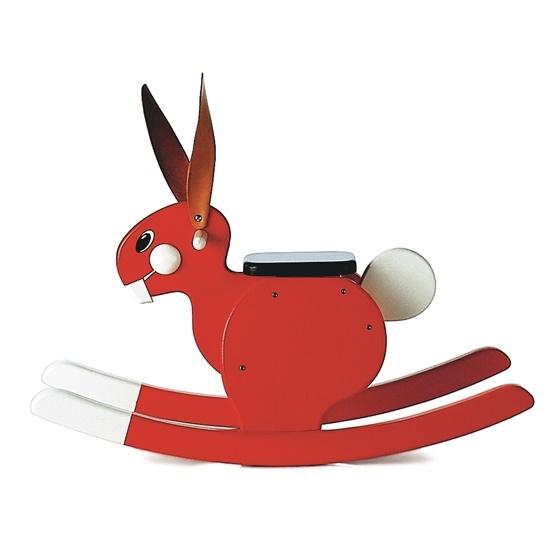 Playsam - Rocking Rabbit Red