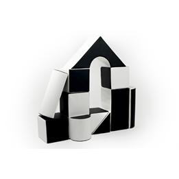 Byggkuddar - 11 stycken - Svart Och Vit - Slott