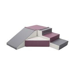 PQP - Byggkuddar - 4 stycken - Lila, Grå