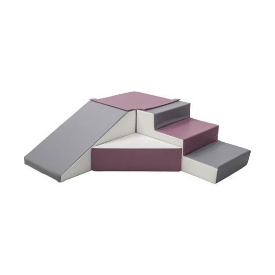 PQP Byggkuddar - 4 stycken - Lila, Grå