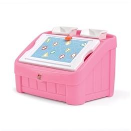 Step2 - Leksakslåda - 2-in-1 Toy Box & Art Lid (pink)
