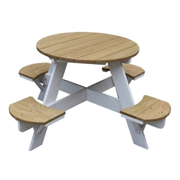 Axi - Picknickbord UFO - Brun/Vit