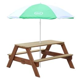 Axi - Picknickbord Nick - Brun - Parasoll Grön/Vit