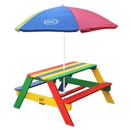 Axi - Picknickbord Nick - Rainbow - Parasoll Rainbow