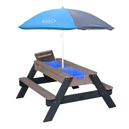 Axi - Sand/Vatten Lekbord Nick - Antracit/Grå - Parasoll Blått